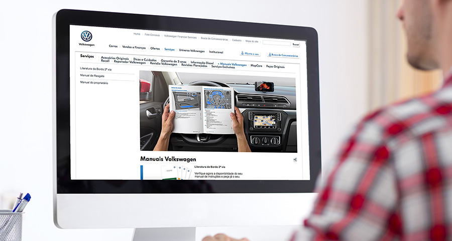 Volkswagen agora conta com manuais online em seu site