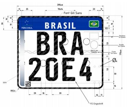 Nova placa de veículos 2017
