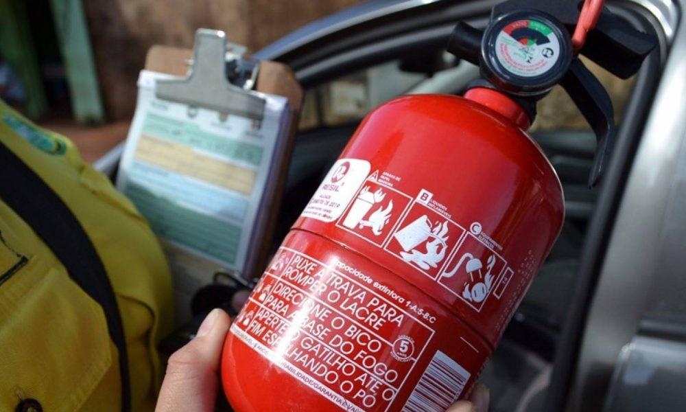 Uso de Extintor em Veículos pode voltar a ser Obrigatório