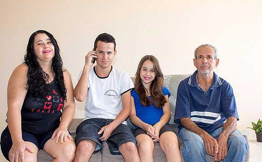 Geovane Félix Ramos dos Santos e Família