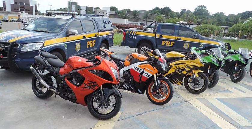 Leilão de motos apreendidas pela receita federal